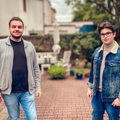 Spitzenkandidat Kilian Karger und Vorsitzender Stefan Juchem